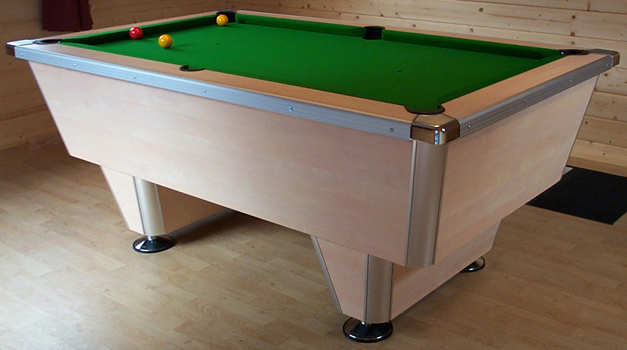 The Snooker Shop Jaguar Pool Table - Chrome pool table